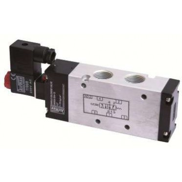 Airmax Compact Design 1/4 Inch 5/2 Way Single Solenoid Valve