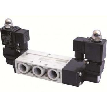 Airmax Spool Type 1/4 Inch 3 Position Double Solenoid Valve