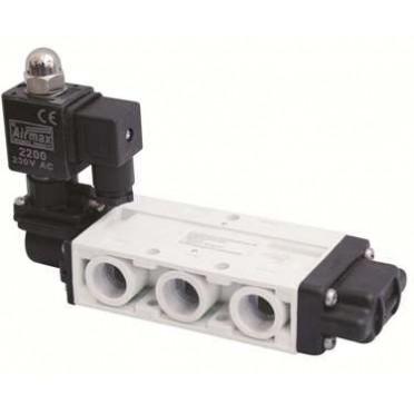 Airmax Spool Type 1/4 Inch 5/2 Way Single Solenoid Valve
