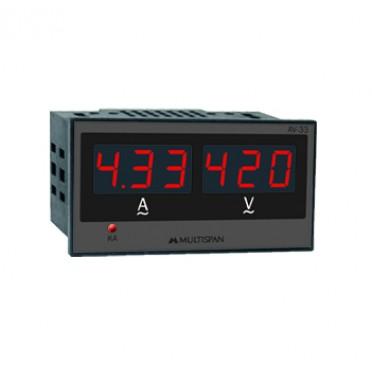 Multispan Single Phase Amp+Volt Meter AV-33