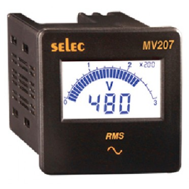 Selec Voltmeter MV207