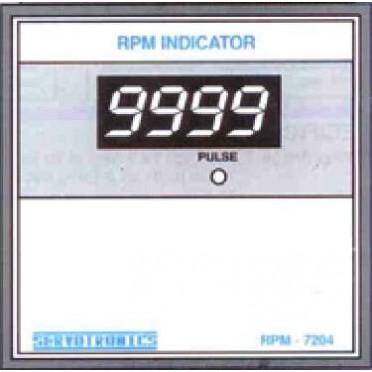 Servotronics Auto Ranging RPM Indicator RPM 7204
