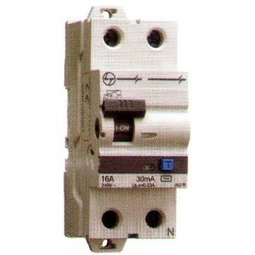 L&T Residual Current Breaker With O/C Protection 6A 2P AC 30mA AUF3C200603