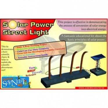 Junior Scientist Solar Power Street Light (Study Project)