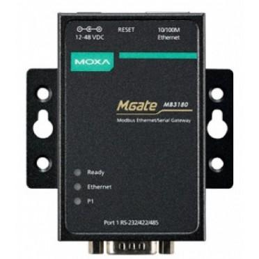 MOXA 1 Port Standard Modbus Gateway MGate MB3180