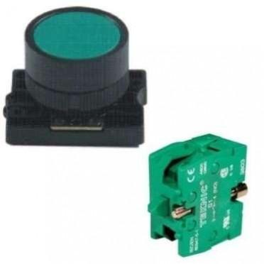 C&S Flush Spring Return Push Button + 1NO Block RCP2-BA11