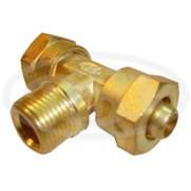 "Brass Tube Fitting P U ""T"" Assembly (Tube OD X BSP X Tube OD)"