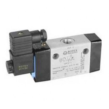 ROTEX 5/2 Spool Type High Orifice Single Solenoid Valve VAF213
