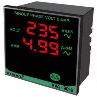 Single Phase Volt And Ampere Meter VVA-9696